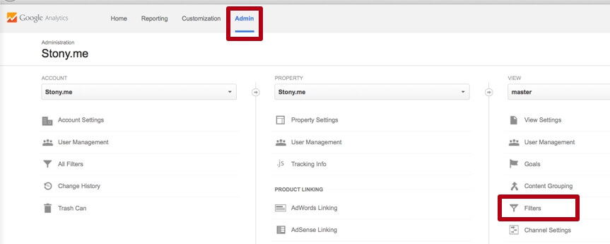 Filter Google Analytics spam