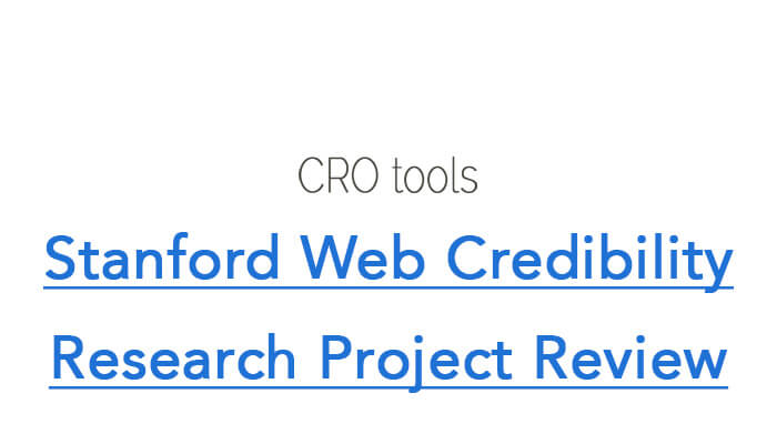 Stanford Web Credibility Research Project Review
