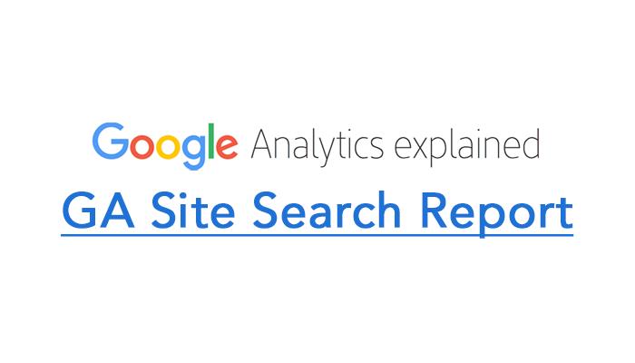GA Site Search Report