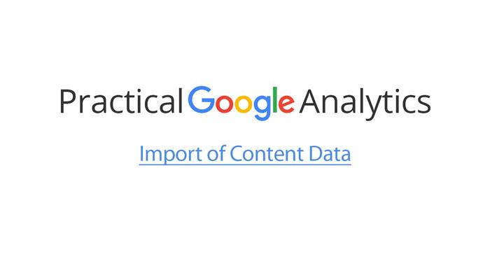 Import of Content Data
