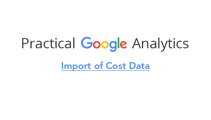 Import of Cost Data