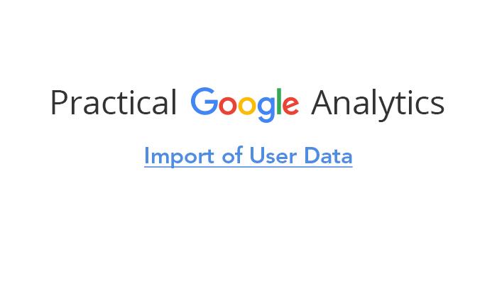 Import of User Data