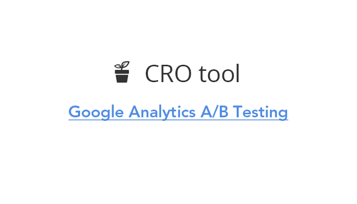 Google Analytics A/B Testing