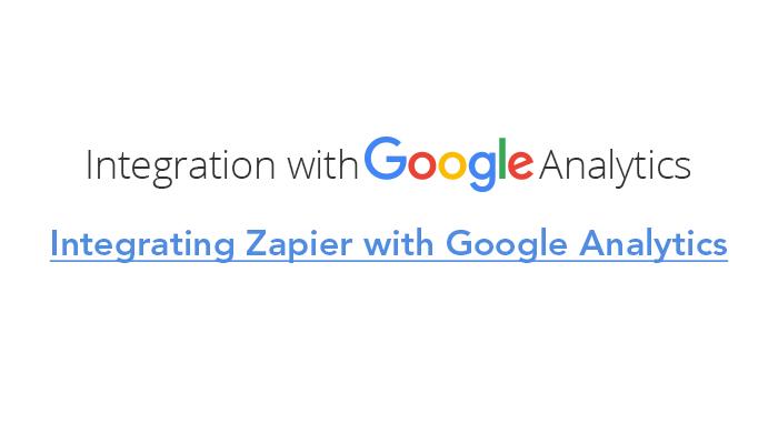 Integrating Zapier with Google Analytics